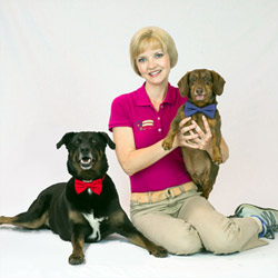 Tiffany Lovell and her dogs